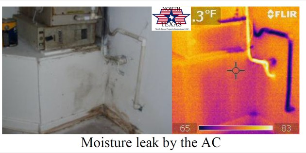 Moisture leak by the AC